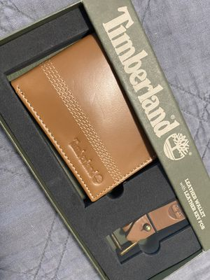 Timberland Leather Wallet Bi-Fold Tan for Sale in Medford, MA
