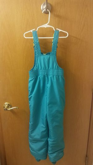 Champion girls' XS (4-5) snow bibs (teal blue) for Sale in Lacey, WA