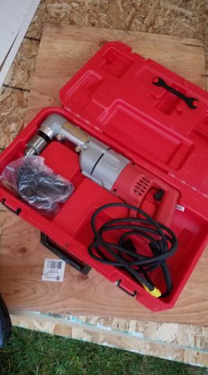Milwaukee 7 Amp Corded 1/2 in. Corded Right-Angle Drill Kit with Hard Case for Sale in Snohomish, WA