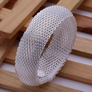 Sterling silver plated 925 stamped mesh bracelet bangle jewelry accessory for Sale in Silver Spring, MD