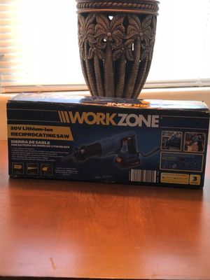 Workzone 20v Lithium-Ion Reciprocating Saw for Sale in Orlando, FL