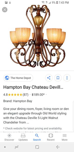 Hampton Bay Light Fixture for Sale in Houston, TX