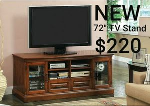 "Antique Oak Finish Wood 72"" TV Console Stand for Sale in Montebello, CA"