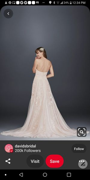 Beautiful!! 2019 Melissa Sweet -Wedding Dress SZ-12 for Sale in Marion, OH