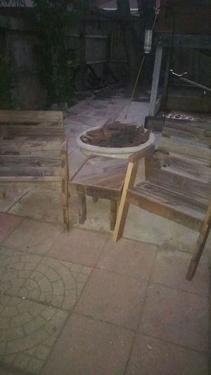 Reclaimed wood patio furniture set for Sale in Mesquite, TX