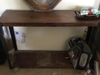 Industrial Table Thin Side Wood for Sale in Loma Linda,  CA
