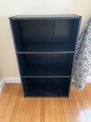 Black Bookcase with Adjustable Shelves for Sale in Watertown, MA