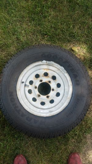 Trailer wheel and tire for Sale in Sewickley, PA