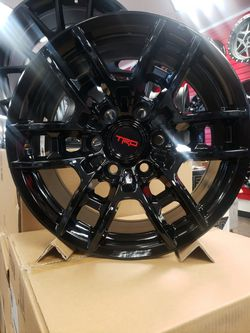 """17"""" 17x7.5 +0 110 cb OE 6x139.7 TRD Offroad Wheels Rims Gloss Black TIRE'S Available MT / AT Falken BFG TOYO NiTTO TOYOTA TUNDRA TACOMA 2WD 4X4 for Sale in Bellflower,  CA"""
