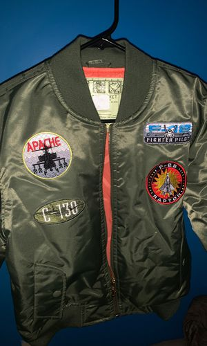 Kids navy green bomber jacket Size 10/12 for Sale in Washington, DC