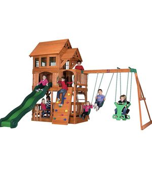 Step2/Backyard Discovery Edgewood Cedar Wooden Swing Set Playset, Brown Model 1803046 NEW & BOXED ITEM for Sale in Chatsworth, CA