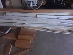 Free Several hundred feet 2 1/4 base moulding for Sale in Tacoma, WA