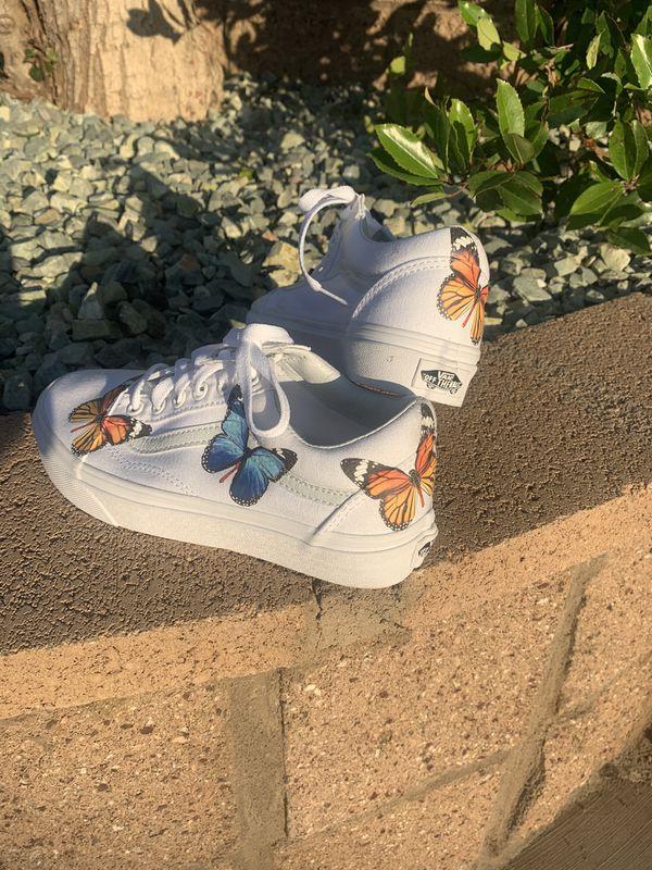 Custom butterfly vans🦋