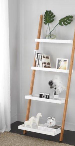 New!! Bookcase, bookshelves, organizer, ladder 4 shelf bookcase storage unit, living room furniture, entrance furniture , white for Sale in Phoenix, AZ