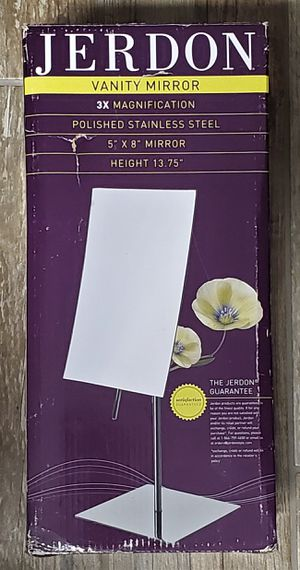 Jerdon JP358C 5-Inch by 8-Inch Rectangular Vanity Mirror with 3x Magnification (NEW) for Sale in PT CHARLOTTE, FL