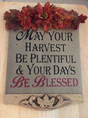 FALL WALL PLAQUE for Sale in Roseville, CA