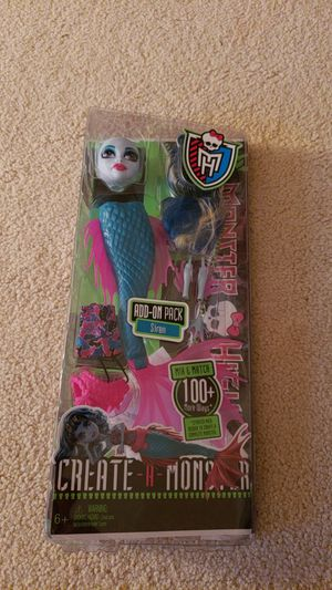Create a monster high doll siren pack for Sale in Weston, WI