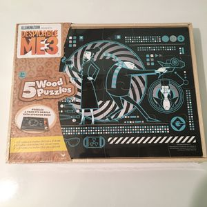 Despicable Me 3 Wood Puzzles & Storage Box for Sale in Estill Springs, TN