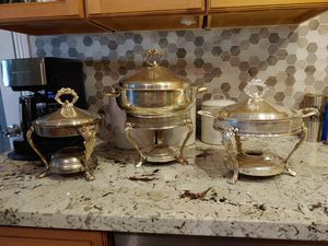 Leonard silver antique collectible chafing dishes for Sale in Mesa, AZ