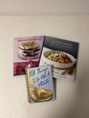 Cooking Book - Set of 3 - Recipes for Entrees & Desserts for Sale in San Diego, CA