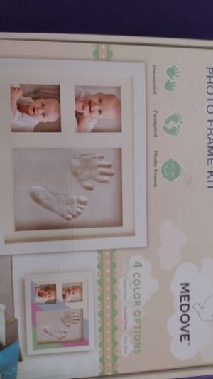 Handprint and footprint photo frame Kit for Sale in Lima, OH