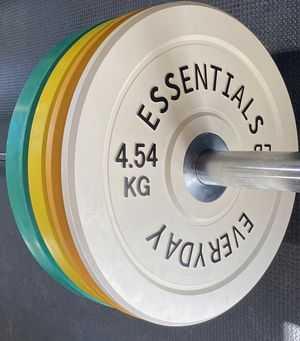 170 lbs Color Coded Olympic Bumper Plate Weight Plate Set for Sale in Temple City, CA