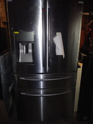 Samsung stainless steel 4 door french style refrigerator for Sale in Cleveland, OH