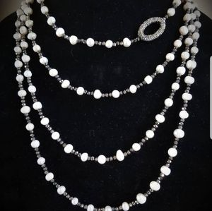 Fresh water pearl and hematite layered necklace for Sale in VLG WELLINGTN, FL