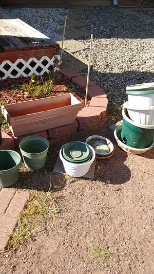 Miscellaneous size flower pots for Sale in Colorado Springs, CO