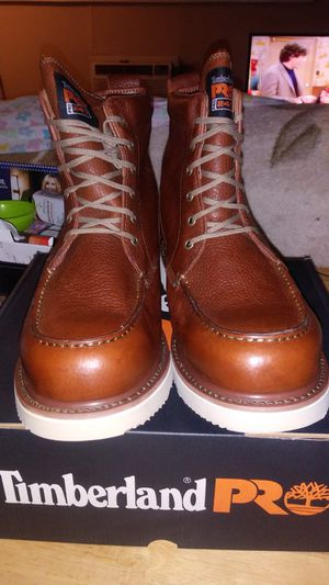 "Timberland Pro Men's 6"" Wedge Leather Boots  Size 8 only left for Sale in Aurora, CO"