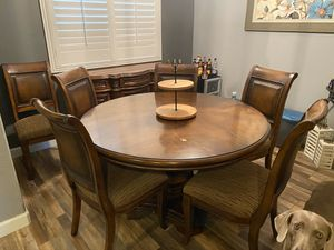 Dining Table with Chairs and Buffet for Sale in Corona, CA