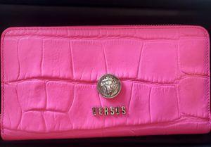 Versus Versace Lion Mock Croc Print Wallets Fuchsia, Women's, authenticity Guarantee, from Madaluxe Vault for Sale in Fairfax, VA