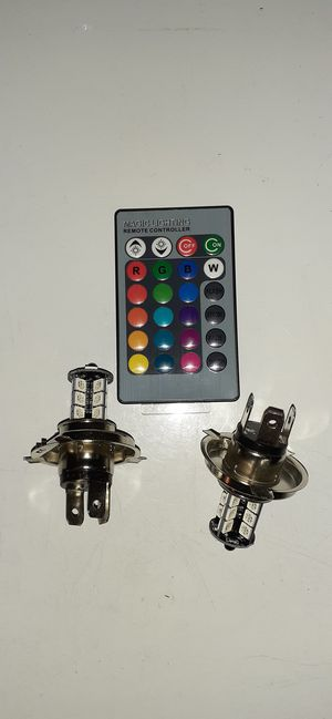Color changeable led headlight/ fog bulb set for Sale in Chicago, IL