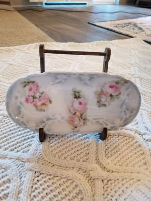 Antique oval floral china plate for Sale in Vancouver, WA