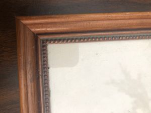 Light Vandyke brown Spanish Cedar picture frame inside dimensions 11 3/4 x 17 1/4 sits three-quarter inches off the wall Outside dimensions 13 1/2 x for Sale in Coconut Creek, FL