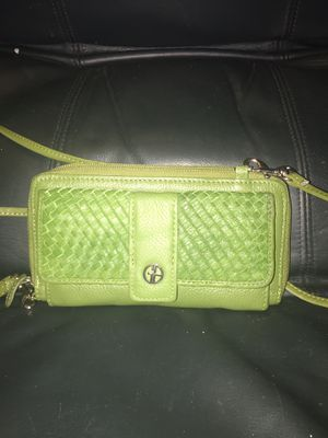 leather giani bernini Crossbody purse/wallet. for Sale in Largo, FL
