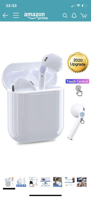 Bluetooth Wireless Earbuds Noise Canceling Sports Headphones with Charging Case IPX5 Waterproof Stereo Earphones in-Ear Built-in HD Mic Headsets for for Sale in North Potomac, MD