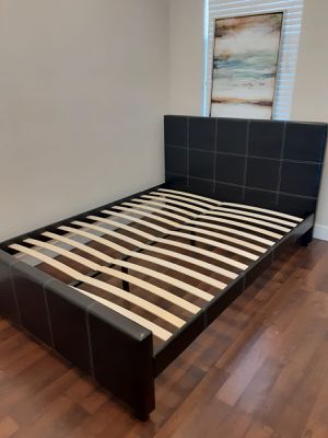 NEW QUEEN SIZE BED FRAME MATTRESS SOLD SEPERATELY AVAILABLE FOR DELIVERY for Sale in Pembroke Pines, FL