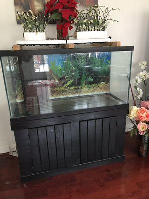 90 gallon aquarium with stand and led lights for Sale in Rockville, MD