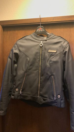 ICON Women's Leather motorcycle jacket for Sale in Bothell, WA