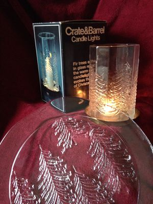 Serving platter & candle holder for Sale in Bolingbrook, IL