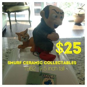 Smurf ceramic collectables 1982 for Sale in Houston, TX