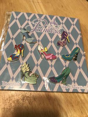 Disney princess shoe pin trading pack for Sale in Riverside, CA