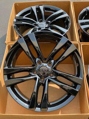 "18"" NISSAN 370Z 350Z MAXIMA ALTIMA INFINITI G35 G37 Q50 WHEELS RIMS NEW POWDER COAT GLOSSY BLACK for Sale in Torrance, CA"