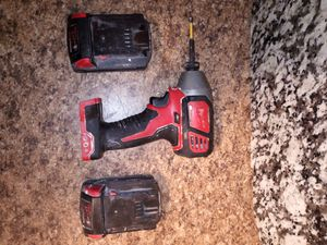 Milwaukee impact drill +2batteries no charger for Sale in Philadelphia, PA