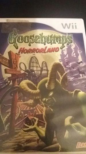 GOOSEBUMPS Horrorland (Nintendo Wii + Wii U) for Sale in Lewisville, TX