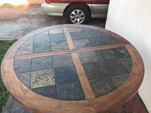 Wood table with four chairs and coffee table for Sale in Hialeah, FL