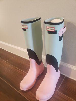 BRAND NEW HUNTER ORIGINAL TALL SHADOW PRINT RAIN BOOT for Sale in Houston, TX