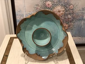 Decorative blue and brown plate ceramic for Sale in McLean, VA