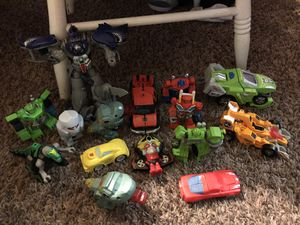 Lot transformers and transforming toys for Sale in Bath, NY
